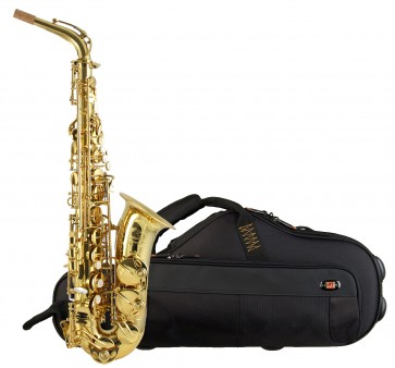 """Trevor James 37SC-A169B ""Signature"" Custom Gold Lacquered Alto Saxophone Outfit """