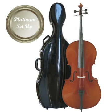 The Sound Post CI042-44-P Eastman Young Master 4/4 Size (Full Size) Cello Outfit with Platinum Set-Up