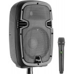 "Stagg RIOTBOX8U UK 8"" Battery Power Speaker Bluetooth + 1 UHF Microphone"