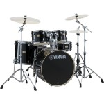 """Yamaha SBP0F5 Stage Custom Drum Kit with HW680 Hardware in Raven Black - Fusion Size 20"""" Bass Drum (excluding cymbals)"""