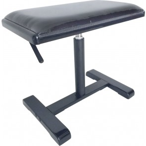 Stagg PBH 740 BKP VBK Highgloss Black Hydraulic Piano Bench with Black Fireproof Velvet top and Central leg