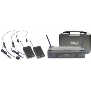 Stagg SUW 50 HH FH UK UHF Wireless 2 Headset 864.2-864.7