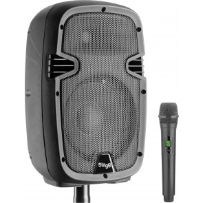"Stagg RIOTBOX10U UK 10"" Battery Power Speaker Bluetooth + 1 UHF Microphone"