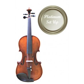 Concertante VI010-34-P Antiqued 3/4 Size (Three Quarter Size) Violin (Instrument Only) with Platinum Set-up