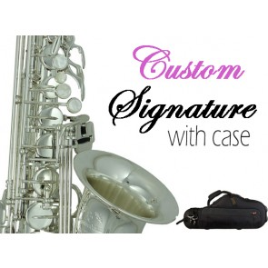 Signature Custom Silver Plated Tenor Saxophone Outfit 38SC-T669B
