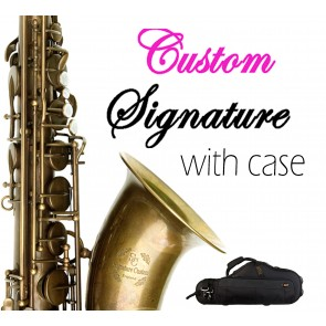Signature Custom Unlacquered RAW XS Tenor Saxophone Outfit 38SC-T569BXS
