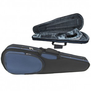 GSJ VC166 4/4 (Full Size) Styro Shaped Violin Case Black/Blue