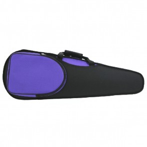GSJ VC168 4/4 (Full Size) Styro Shaped Violin Case Black/Purple