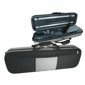 GSJ VC171 4/4 Oblong (Full Size) Two Tone Violin Case Black/Grey