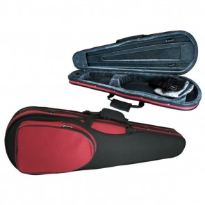 GSJ VC165 4/4 (Full Size) Styro Shaped Violin Case Black/Red
