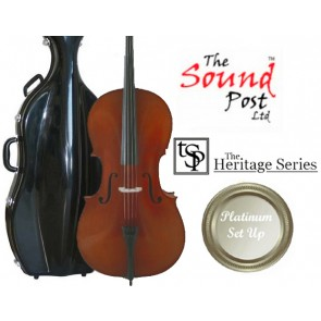 The Sound Post CI014-44-P Heritage Series Stradvari 'Davidov' 4/4 Size (Full Size) Cello Outfit with Platinum Set-Up