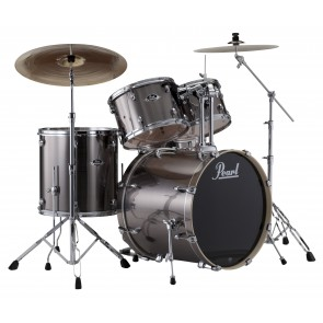 "Pearl EXX725S/C/BR/21 Export EXX Smokey Chrome Rock Fusion Drum Kit with 16"" Floor Tom and Sabian Cymbals"