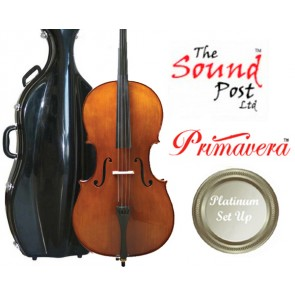 The Sound Post CF026-34-P Primavera 200 3/4 Size (Three Quarter Size) Cello Outfit with Platinum Set-Up