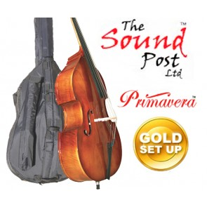 The Sound Post BF030-18-G Eastman 80 Laminate 1/8 Size (Eighth Size) Bass Outfit with Gold Set-up