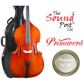 The Sound Post BI028-O-34-P Westbury 3/4 Size (Three Quarter Size) Double Bass Outfit with Platinum Set-up