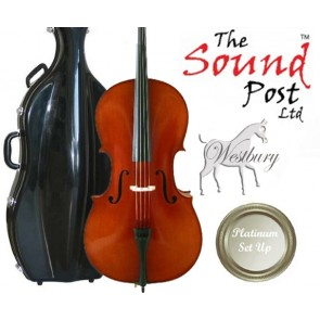 The Sound Post CI027-34-P Westbury 3/4 Size (Three Quarter Size) Cello Outfit with Platinum Set-Up