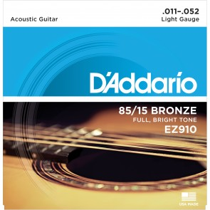D'Addario EZ910 85/15 Light Tension Acoustic Guitar Strings (.011-.052)
