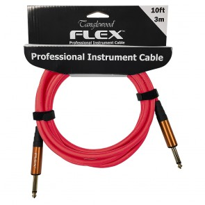 Tanglewood 3m (10ft) Pro Instrument Cable with Copper Jacks -  in Red  FX3R