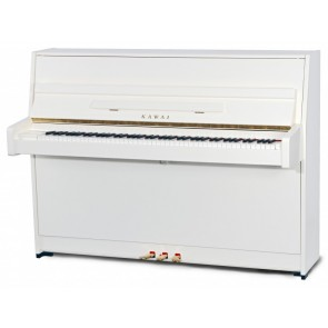 Kawai K15 White Polish Upright Piano