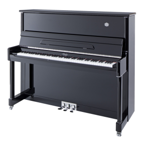 Irlmer Upright Studio Piano - P125 in Polished Ebony
