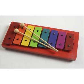 Percussion Plus PP945 Red Diatonic Colour and Play Glockenspiel