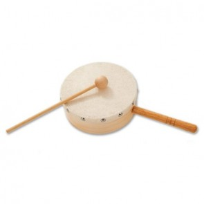 Percussion Plus PP7604 Small Hand Held Drum with Handle (Tom Boy)