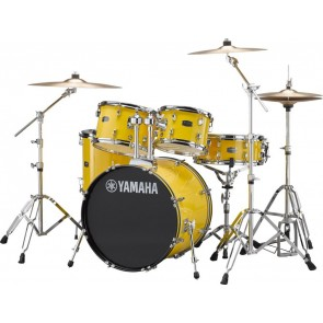 "Yamaha Rydeen 20"" Drum Kit w/ Hardware and Cymbals, Yellow JRDP0F5YLCPSET"